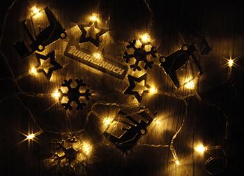 Новогодние подарки, новый год, гирлянда