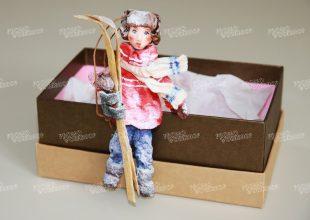 Елочная игрушка «Лыжник»
