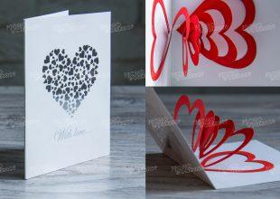 Простые Pop-up открытки