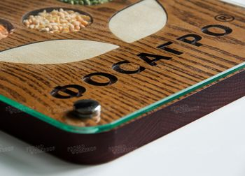 Деревянное панно для «Фосагро»
