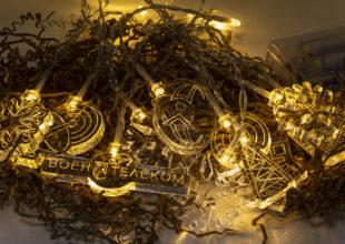 Новогодняя гирлянда для компании «Воентелеком»