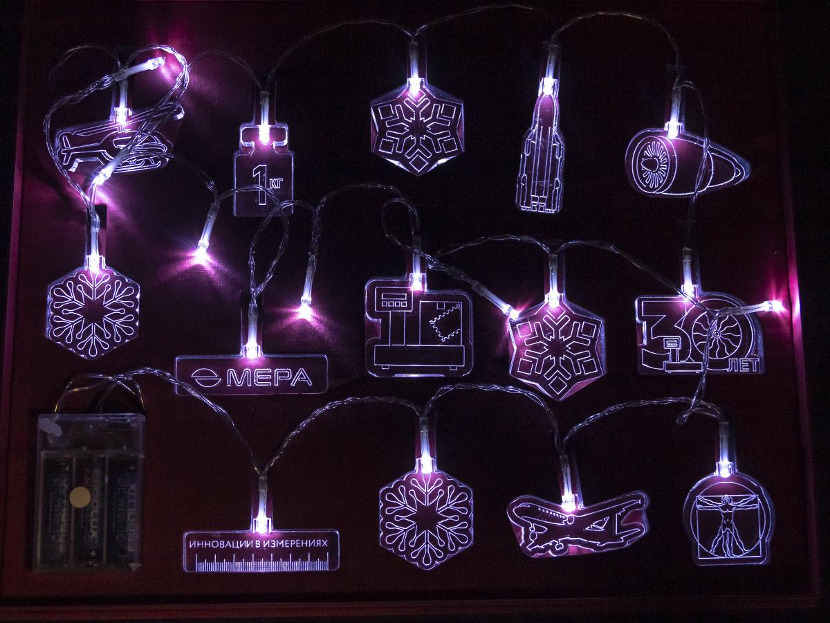 Новогодняя гирлянда для компании «Мера»