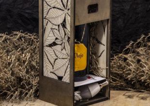 Упаковка для алкоголя + светильник «Лист»