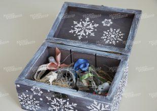 Набор новогодних игрушек из дерева