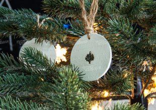 Новогодние игрушки «Медальон»