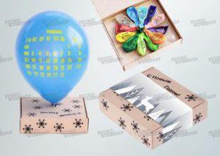 Календарь из шаров