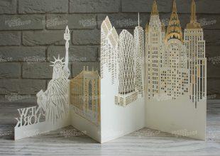 Резная открытка New York