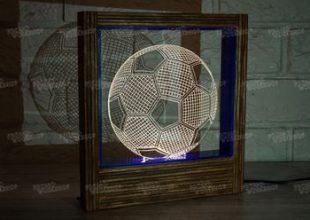 3D LED лампа «Футбольный мяч»