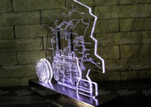 Макет настольного светящегося пано для бренда «СуперОкс»