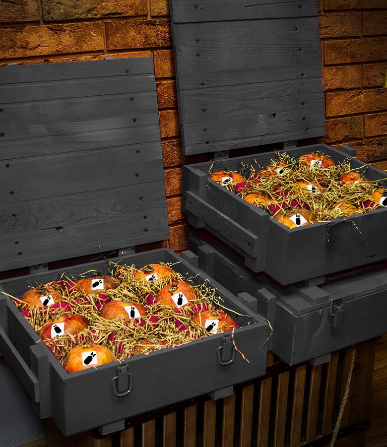 Гранаты в ящике