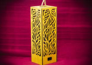 Упаковка для алкоголя + светильник «Клен»